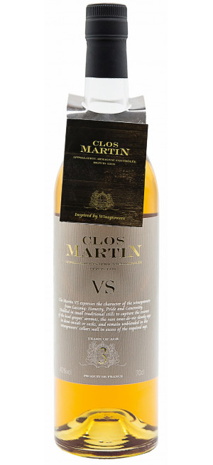"Арманьяк ""Clos Martin AOC Bas-Armagnac"" VS 3 years old, 0.7 л"