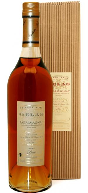 "Арманьяк Gelas, ""Bas Armagnac"" Monocepage Baco, 18 ans, gift box, 0.7 л"