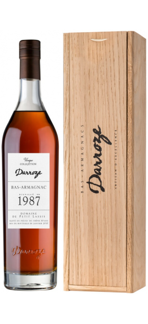 "Арманьяк Darroze, Bas-Armagnac ""Domaine de Petit Lassis"", 1987, wooden box, 0.7 л"