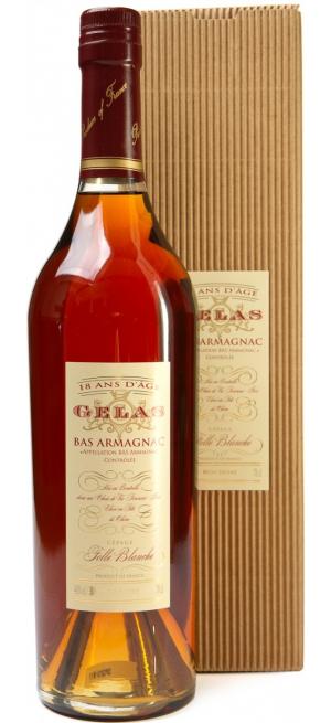 "Арманьяк Gelas, ""Bas Armagnac"" Monocepage Folle Blanche, 18 ans, gift box, 0.7 л"