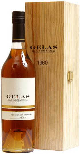 """Арманьяк Gelas, """"Bas Armagnac"""" 1960, gift box, 0.7 л"""