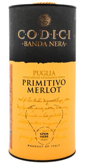 "Вино ""Codici"" Primitivo Merlot, Puglia IGT, bag-in-tube, 3 л"