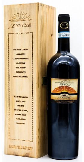 Вино Gian Piero Marrone, Nebbiolo, Langhe DOC, in wooden box, 1.5 л