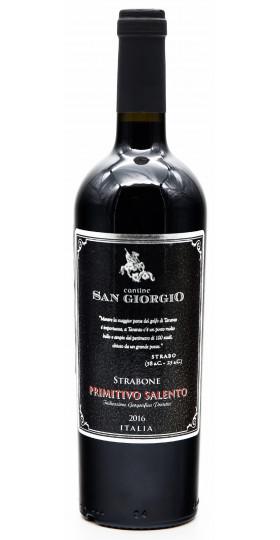 "Вино Cantine San Giorgio, ""Strabone"" Primitivo Salento IGP, 2018, 0.75 л"