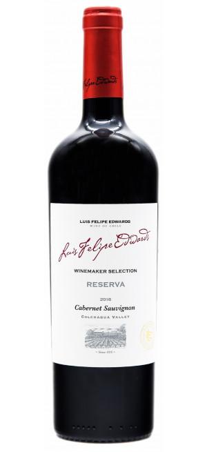 "Вино Luis Felipe Edwards, ""Reserva"" Cabernet Sauvignon, 2018, 0.75 л"