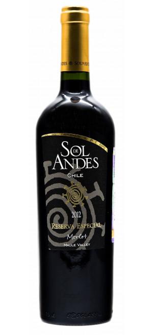 """Вино Santa Camila, """"Sol de Andes"""" Merlot, Reserva Especial, 2014, 0.75 л"""