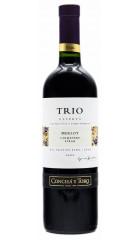 """Вино Concha y Toro, """"Trio"""" Reserva Merlot"""
