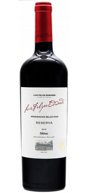 """Вино Luis Felipe Edwards, """"Reserva"""" Shiraz, 2017, 0.75 л"""