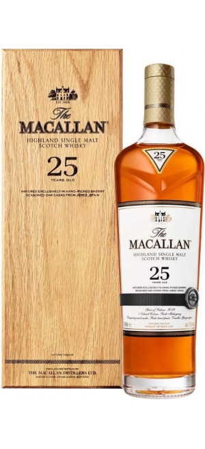 "Виски ""Macallan"" Sherry Oak 25 Years Old, with box, 0.7 л"