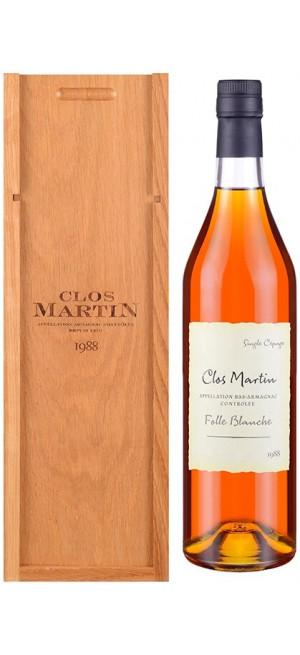 "Арманьяк ""Clos Martin"" Folle Blanche, Bas-Armagnac AOC, 1988, gift box, 0.7 л"