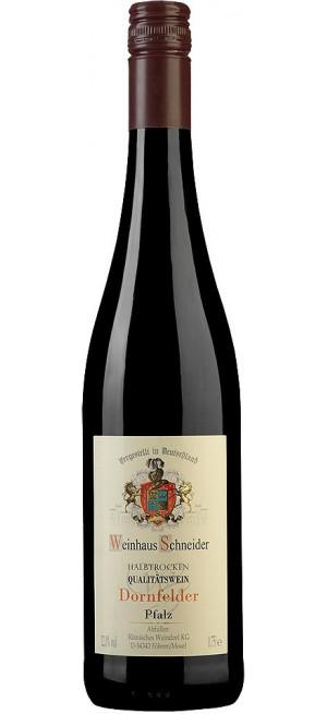"""Вино """"Weinhaus Schneider"""" Dornfelder Halbtrocken, 0.75 л"""