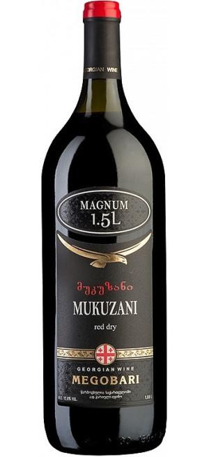 "Вино ""Мегобари"" Мукузани, 1.5 л"