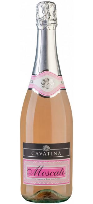 "Игристое вино ""Cavatina"" Moscato Spumante Rose Semi-Sweet, 0.75 л"