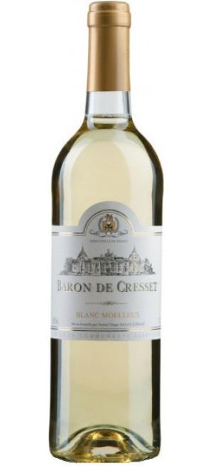 "Вино ""Baron de Cresset"" Blanc Moelleux, 0.75 л"