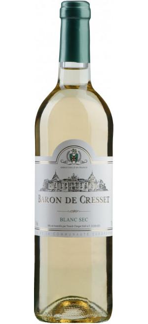 """Вино """"Baron de Cresset"""" Blanc Sec, 0.75 л"""