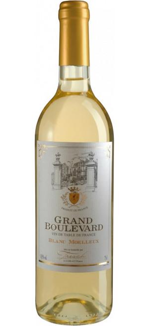 "Вино ""Grand Boulevard"" Blanc Moelleux, 0.75 л"