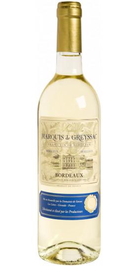 "Вино ""Marquis de Greyssac"" Bordeaux AOC Blanc Moelleux, 0.75 л"
