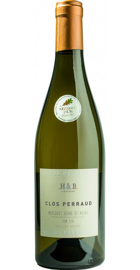 """Вино Huteau Boulanger, """"Clos Perraud"""" Muscadet Sevre et Maine AOP sur Lie, 0.75 л"""