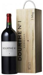 """Вино """"Dourthe №1"""" Merlot-Cabernet Sauvignon, Bordeaux AOC, 2015, wooden box, 1.5 л"""