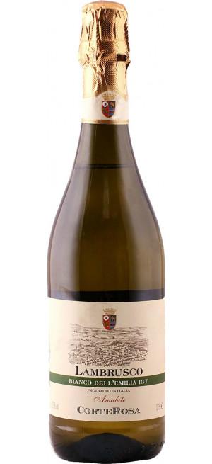 "Игристое вино ""Corte Rosa"" Lambrusco Bianco Amabile, Dell'Emilia IGT, 0.75 л"