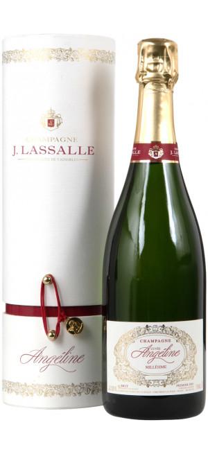 "Шампанское J. Lassalle, ""Cuvee Angeline"" Brut, Premier Cru Chigny-Les-Roses, 2009, gift box, 0.75 л"