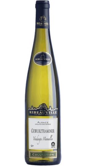 """Вино Cave de Ribeauville, Gewurztraminer """"Vendanges Manuelles"""", Alsace AOC, 2017, 0.75 л"""