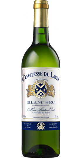 "Вино ""Comtesse de Lion"" Blanc Sec, 0.75 л"