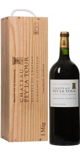 """Вино Chateau Pey La Tour """"Reserve du Chateau"""", Bordeaux Superieur, 2013, wooden box, 1.5 л"""