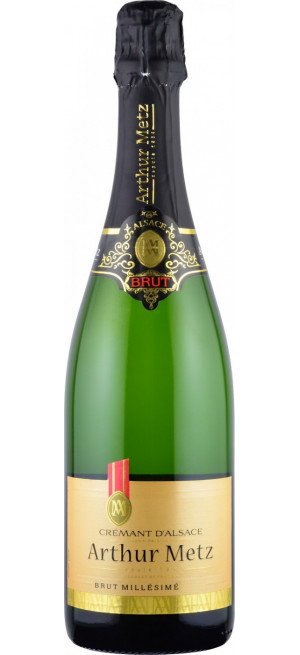 Игристое вино Arthur Metz, Brut Millesime, Cremant d'Alsace AOP, 0.75 л