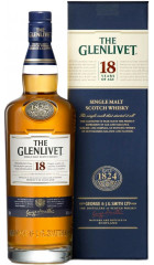 """Виски """"The Glenlivet"""" 18 years, with box, 0.7 л"""