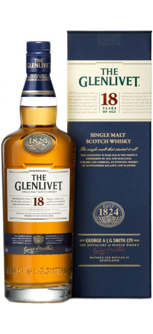 "Виски ""The Glenlivet"" 18 years, with box, 0.7 л"