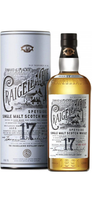 "Виски ""Craigellachie"" 17 Years Old, in tube, 0.7 л"