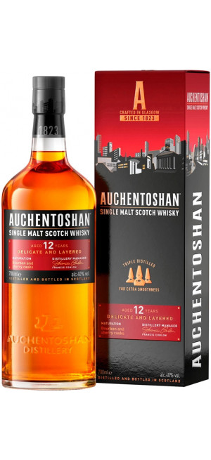 Виски Auchentoshan 12 Years Old, gift box, 0.7 л