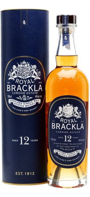 "Виски ""Royal Brackla"" 12 Years Old, in tube, 0.7 л"