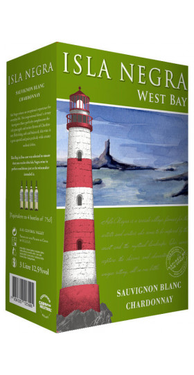 "Вино Isla Negra, ""West Bay"" Sauvignon Blanc-Chardonnay, 2018, 3 л"