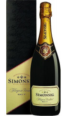 "Игристое вино Simonsig, ""Kaapse Vonkel"" Brut, 2017, gift box, 0.75 л"