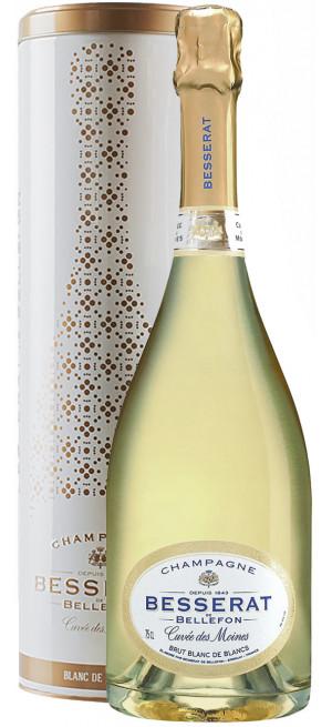 "Шампанское Besserat de Bellefon, ""Cuvee des Moines"" Brut Blanc de Blancs, in tube, 0.75 л"