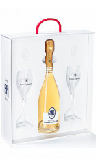 """Шампанское Besserat de Bellefon, """"Cuvee des Moines"""" Brut Blanc de Blancs, plastic box with 2 glasses, 0.75 л"""