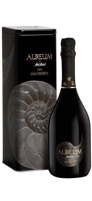 "Игристое вино Mont Marcal, ""Aureum"" Cava Brut Nature Gran Reserva, metal box, 0.75 л"