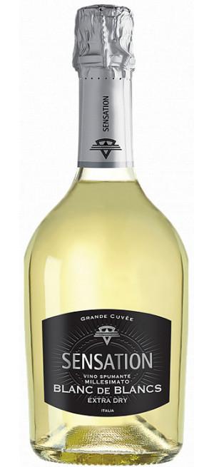 """Игристое вино """"Sensation"""" Blanc de Blanc, 0.75 л"""