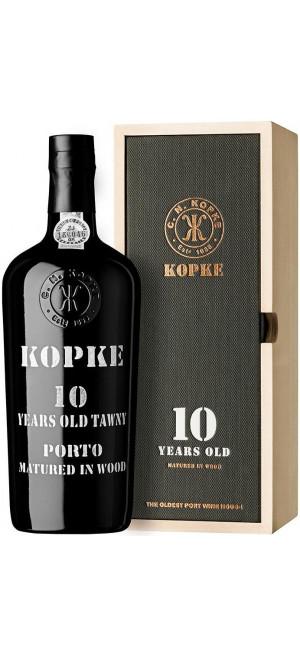 Портвейн Kopke, 10 Years Old Porto, gift box, 0.75 л