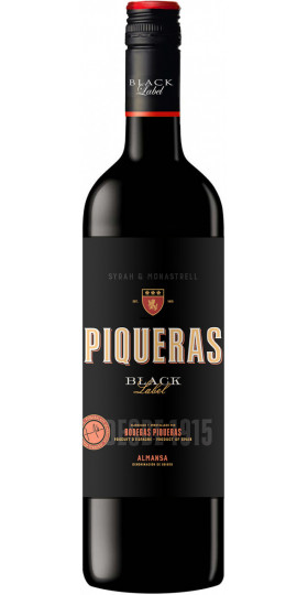 "Вино Piqueras, ""Black Label"", Almansa DO, 2018, 0.75 л"