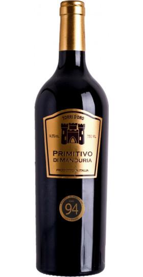 "Вино ""Torri d'Oro"" Primitivo di Manduria DOC, 2018, 0.75 л"