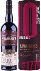 """Виски """"Kinahan's"""" Single Malt 10 Years, in tube, 0.7 л"""