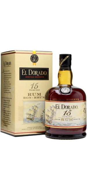 "Ром ""El Dorado"" 15 Years Old, gift box, 0.7 л"