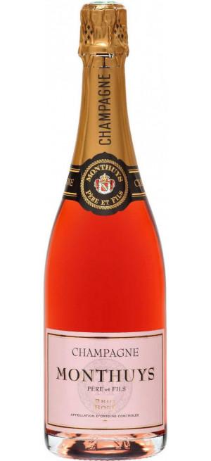 Шампанское Monthuys Pere et Fils, Brut Rose, Champagne AOC, 0.75 л