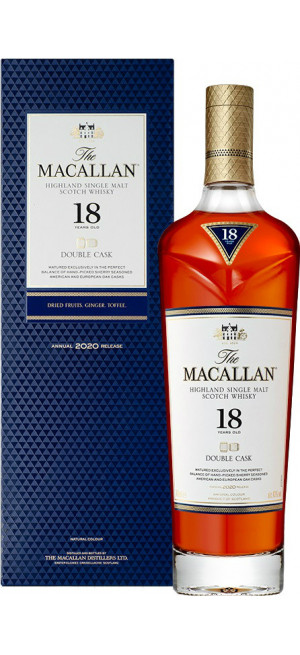 "Виски ""Macallan"" Double Cask 18 Years Old, gift box, 0.7 л"