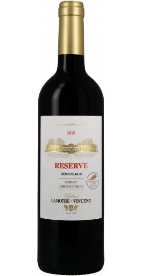 Вино Chateau Lamothe-Vincent, Reserve Rouge, Bordeaux AOC, 2018, 0.75 л