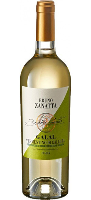 """Вино Bruno Zanatta, """"Galal"""", Vermentino di Gallura DOCG, 2019, 075 л"""