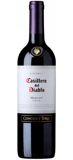 Вино Casillero del Diablo Merlot Reserva, 2018, 0.75 л
